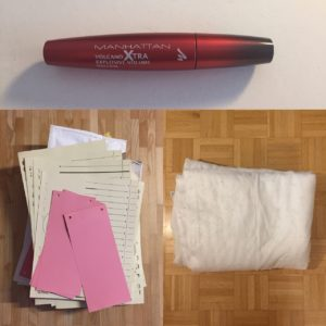 Kristina Kral #197 Wimperntusche, Unterlagen digitalisieren, Decke