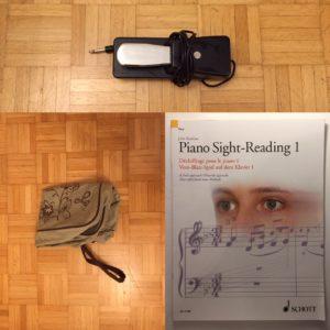 Kristina Kral #205 Tasche, Vom Blatt Spiel Übungsbuch, Piano Pedal
