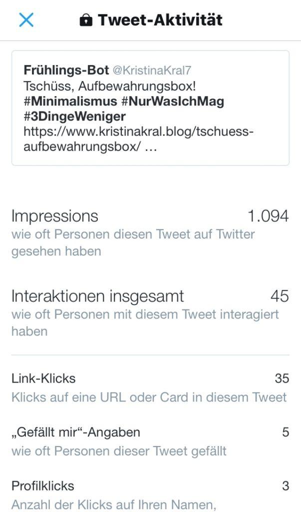 Kristina Kral - Klickrate Social Media - Posting mit Gesicht - Tschüss Aufbewahrungsbox