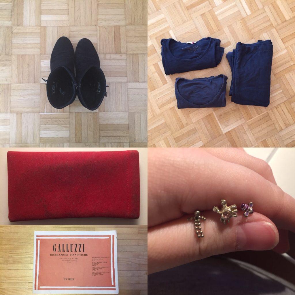 Kristina Kral #229 Stiefeletten, Pullover, Brillenetui, Galucci Notenbuch, Ohrringe
