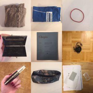 Das Bild zeigt neun verschiedene Gegenstände, die minimalisiert wurden | Minimalismus, Kristina Kral
