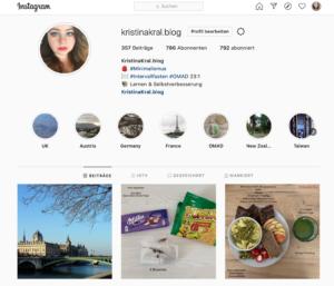 Mein Instagramkonto: @KristinaKral.blog