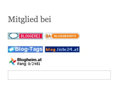 Die Blogverzeichnisse, in denen ich derzeit eingetragen bin