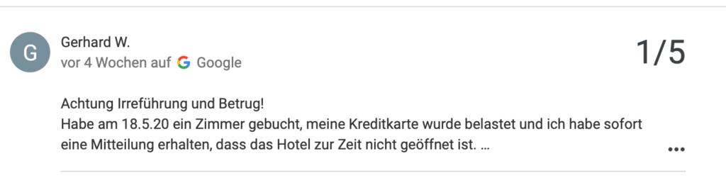 Zahlte Gerhard für einen Aufenthalt in einem geschlossenen Hostel?