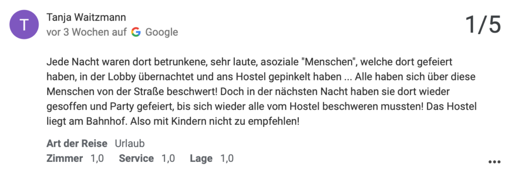 a & o Hostel Salzburg Hauptbahnhof | Tanja warnt vor urinierenden Säufern