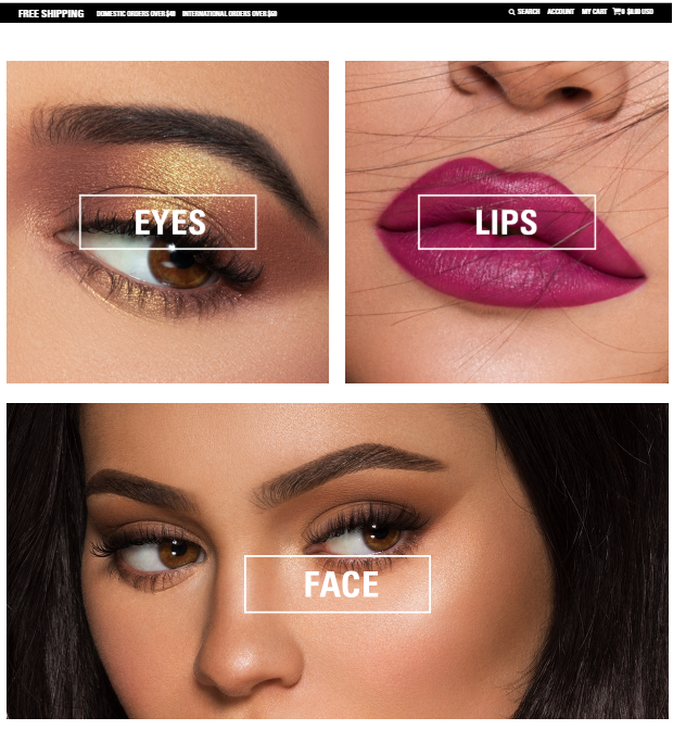 Kristina Kral Bildschirmfoto (c) Kylie Jenner KylieCosmetics