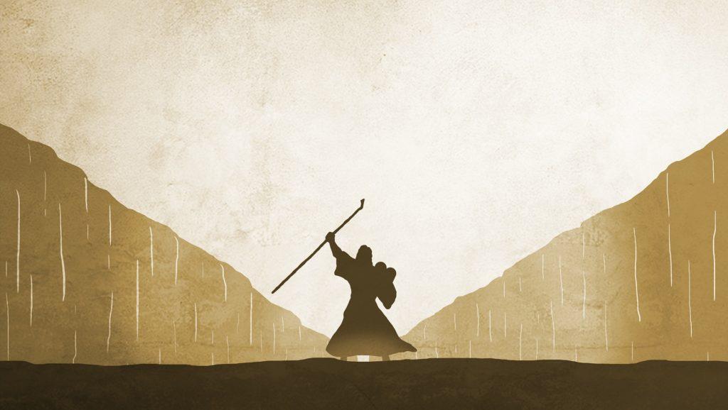 Symbolbild: Mose, der das Wasser teilt (c) jeffjacobs1990