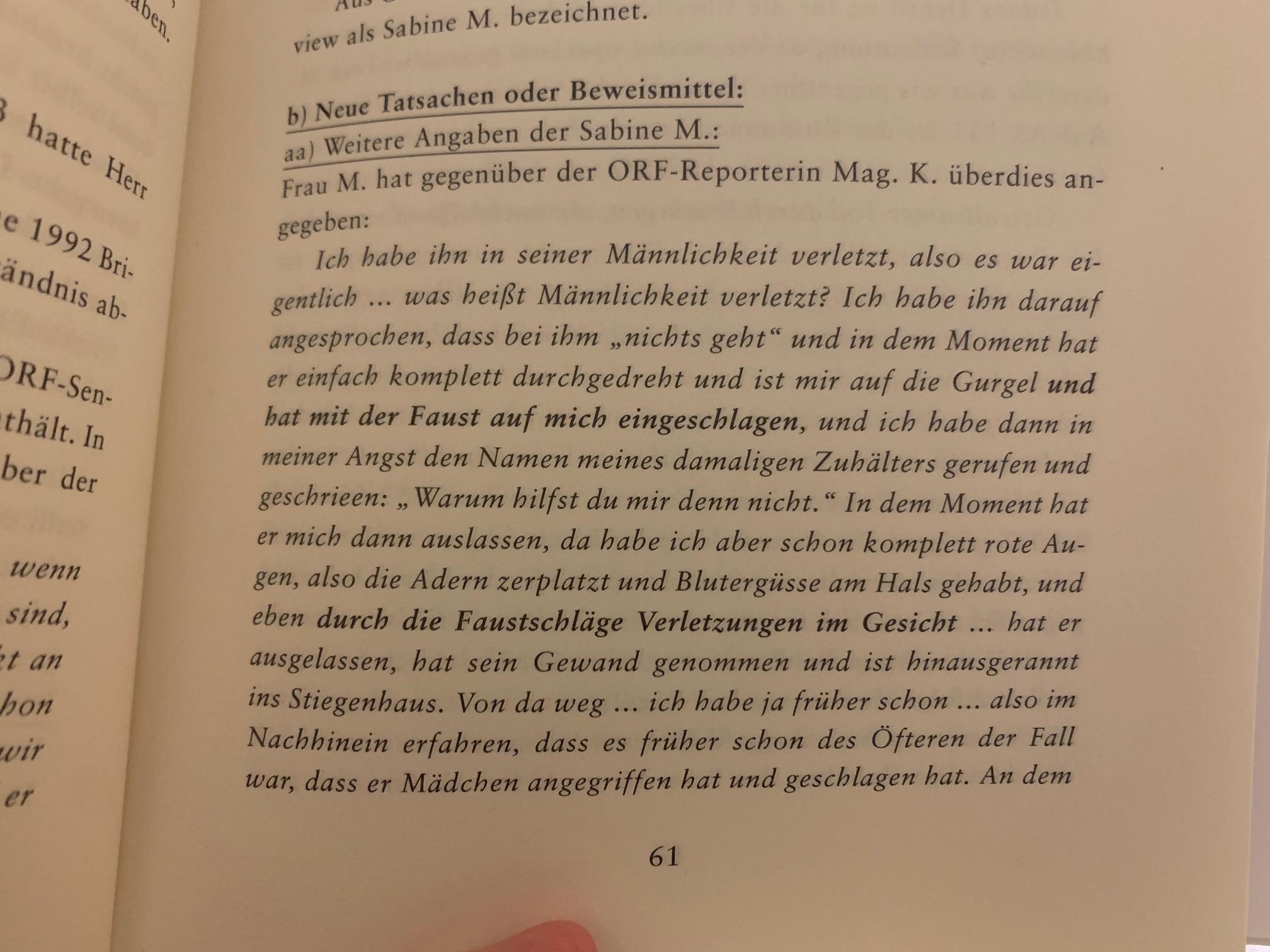 """Auszug aus """"Unschuldig hinter Gittern"""" von Rainer Himmelfreundpointner, ISBN 9 783902 404619"""